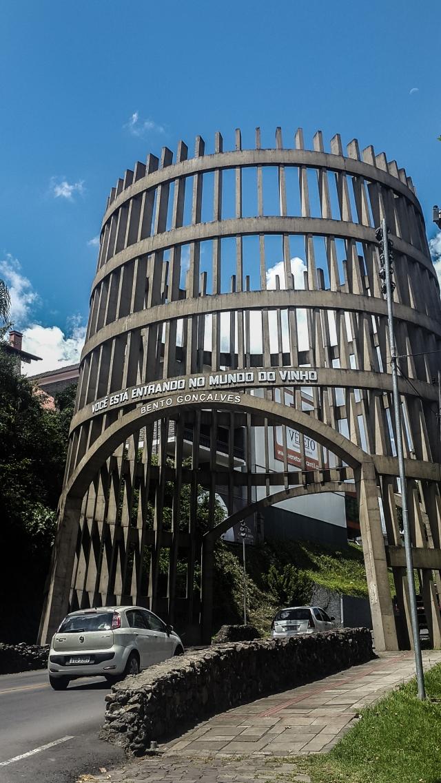 Entrada da cidade Bento Gonçalves - Capital do Vinho