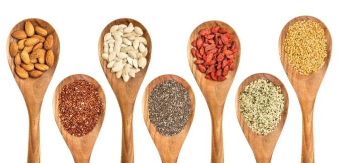 Chia,Linhaca, Gojy, Quinoa