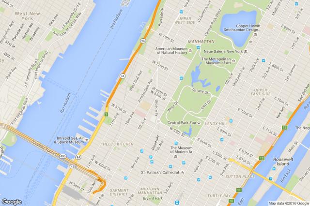 mapa nyc